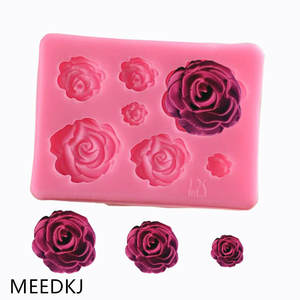 Silicone Mold Cake-Decoration Fondant-Baking-Tool Rose-Flower Diy Chocolate Middle Small