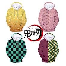 New 2020 3D Cool Anime Demon Slayer Kimetsu no Yaiba hooded Sweatshirt Fashion Trend Style 3D Cool Women/men Winter Hoodies