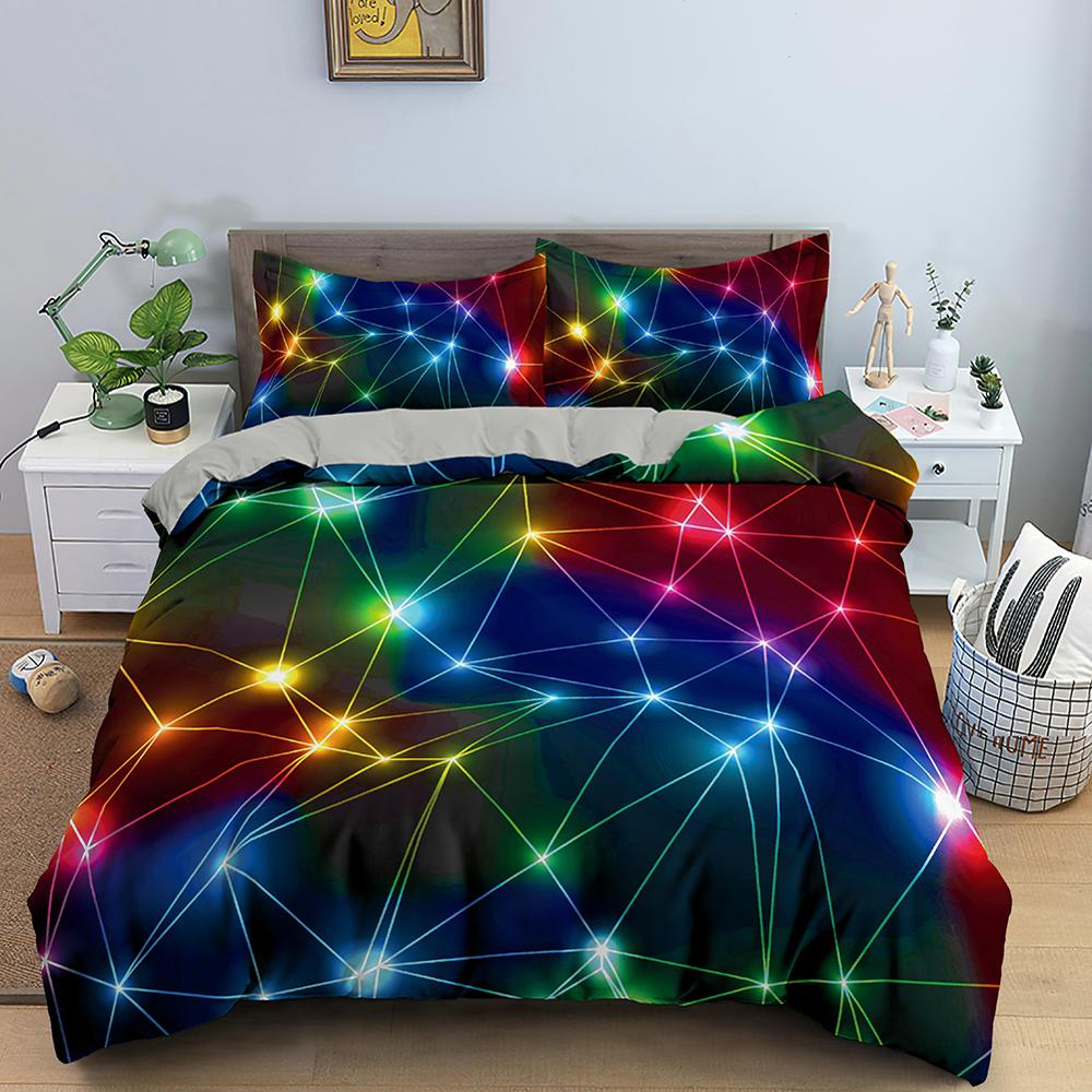 3D Printing Bedding Set Luxury Duvet Cover With Pillowcase Quilt Cover Queen King Bed Linens Starry Sky Pattern Comforter