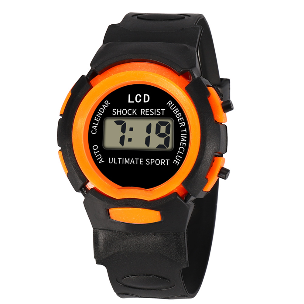 Fashion And Durable Kids Casual Electronic Watch Children Comfortable Silicone Sports Watches  LL@17