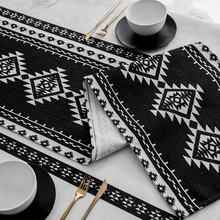 Black White Geometric Table Runner Cotton Linen Coffee Dining Table Cloth Runner Tables Decoration Fashion Simple