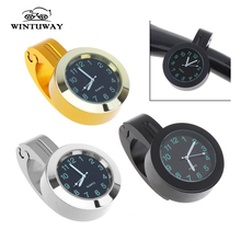 Stainless Steel Refit Waterproof Shockproof Buckle Motorcycle and Bike Handlebar Mount Clock Watch Motorcycles Accessories