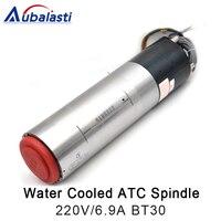 3.2KW Troca Automática de Ferramentas BT30 Coolling Água GDL110 30 18Z 3.2KW 18000RPM Do Eixo Do Motor 220V 6.9A|Eixo da máquina-ferramenta| |  -
