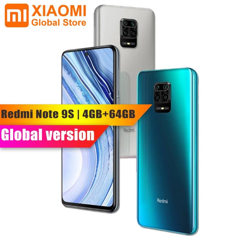 Global Version Xiaomi Redmi Note 9S 4GB RAM 64GB ROM Mobile Phone Octa-core Snapdragon 720G 5020mAh 48MP Cam Smartphone
