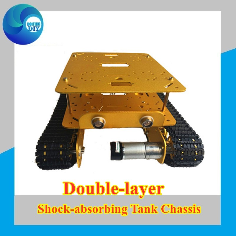 Double Chassis Shock Absorber <font><b>Tank</b></font> Chassis <font><b>TS100</b></font> from DIY Crawler Tracked Model Robotic Experiment Functional image