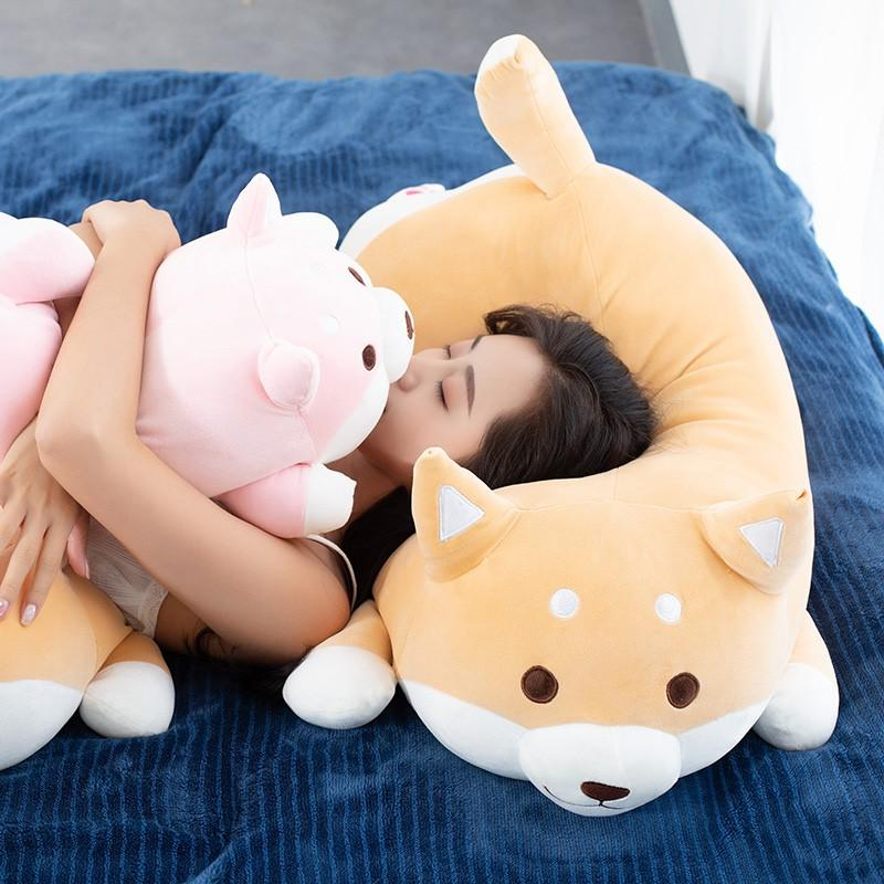 1pc Lovely Fat Shiba Inu & Corgi Dog Plush Toys Stuffed Soft Kawaii Animal Cartoon Pillow Dolls Gift For Kids Baby Children