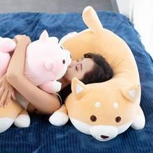 1pc adorável gordura shiba inu & corgi cão brinquedos de pelúcia recheado macio kawaii animal dos desenhos animados travesseiro bonecas presente para crianças do bebê