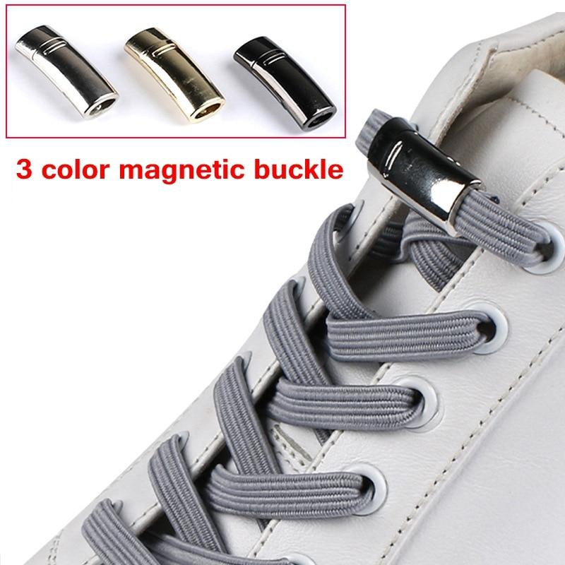 1Pair Elastic Magnetic Shoe Laces 1Second Locking Shoelaces Quick No Tie Shoe Laces Kids Adult Sneake Shoelace Flat Lazy Laces