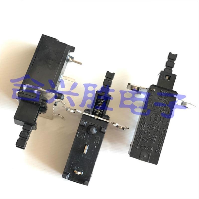 ESB92S Power Switch TV-5 5A250VAC Button Button Self-locking 4A /128A250V