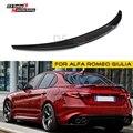 Спойлер из углеродного волокна крыло задний багажник хвост губы для Alfa Romeo Giulia Тип 952 2016-настоящее 4-дверь седан