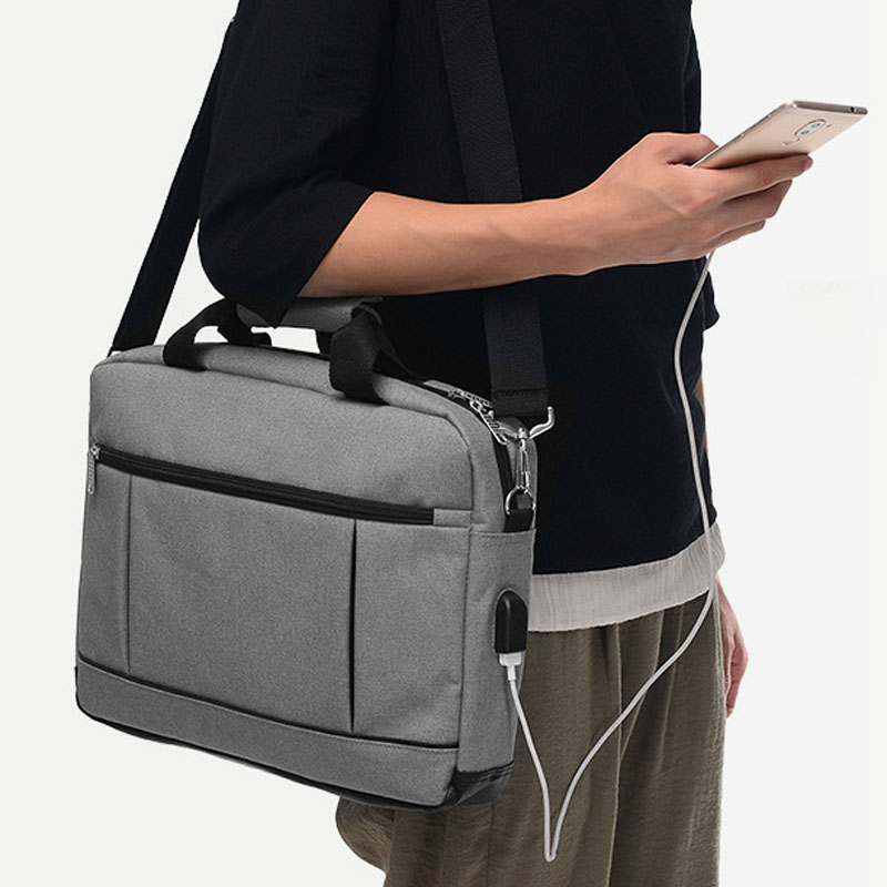 Soomile 2018 Men's Briefcase USB Laptop Bag Male Simple Protfolio Office Briefcase Business Handbag Maletin Hombre 15 Inch Bags