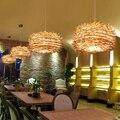 Südost Asiatischen Handgemachte Bambus Weben Rattan Kronleuchter Vogelnest Holz luminaria glanz design leuchten Stroh Hut Lampe
