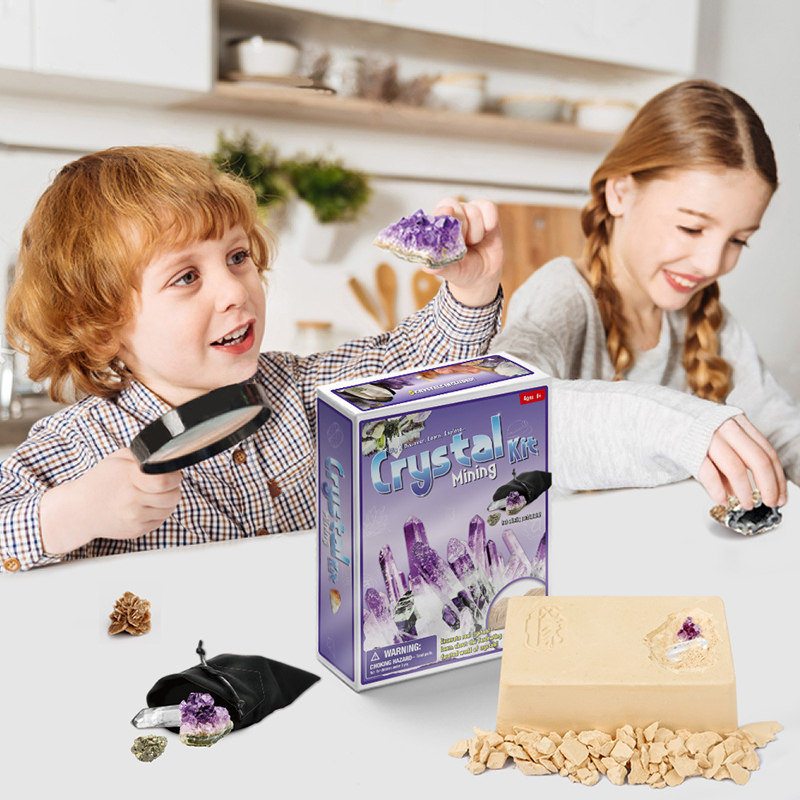 Pirate Treasure Gem Archeology DIY Model Toys Gift For Kids Educational Toys Novelty Fossils Excavation Toys Free Delivery