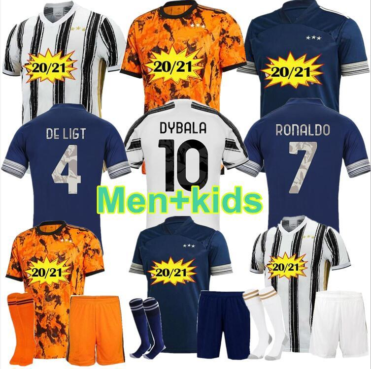20 21 Juventuses Soccer Jerseys Ronaldo 2020 2021 Higuain Juve De Ligt Fans Player Version Mens Jersey Kids Kit Dybala Football T Shirts Aliexpress