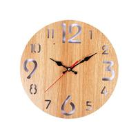 12inch Wooden Wall Clock Silent Wall Clock Decorative Wall Watches For Home Decor Living Room Bathroom Kitchen|Wall Clocks|Home & Garden -