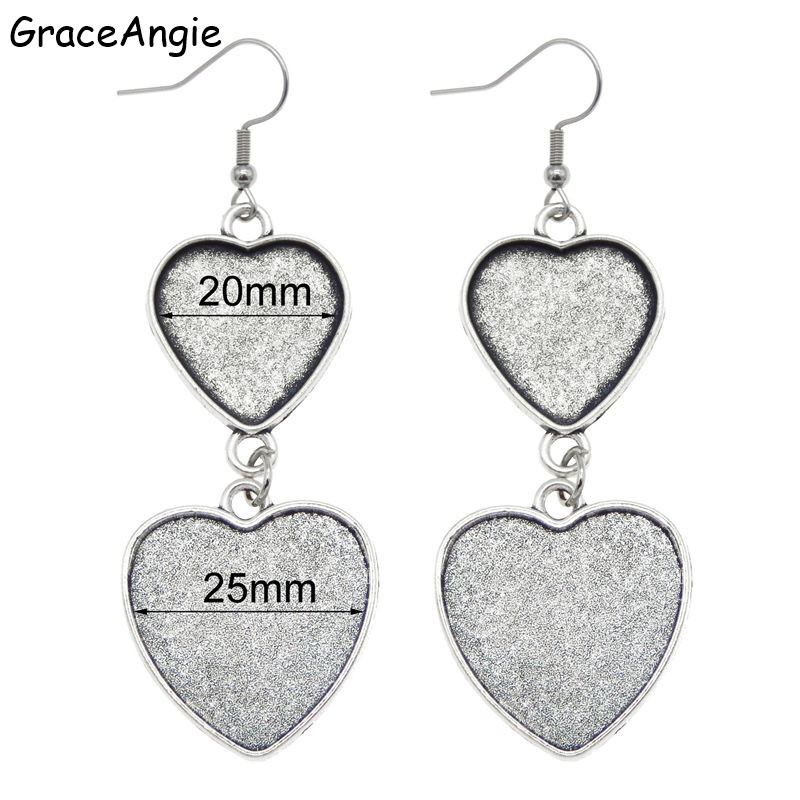 GraceAngie 15 Sets Mixed Setting Tray Pendant with Glass Cabochons With 15 Pcs Chains for Necklace Jewelry Making