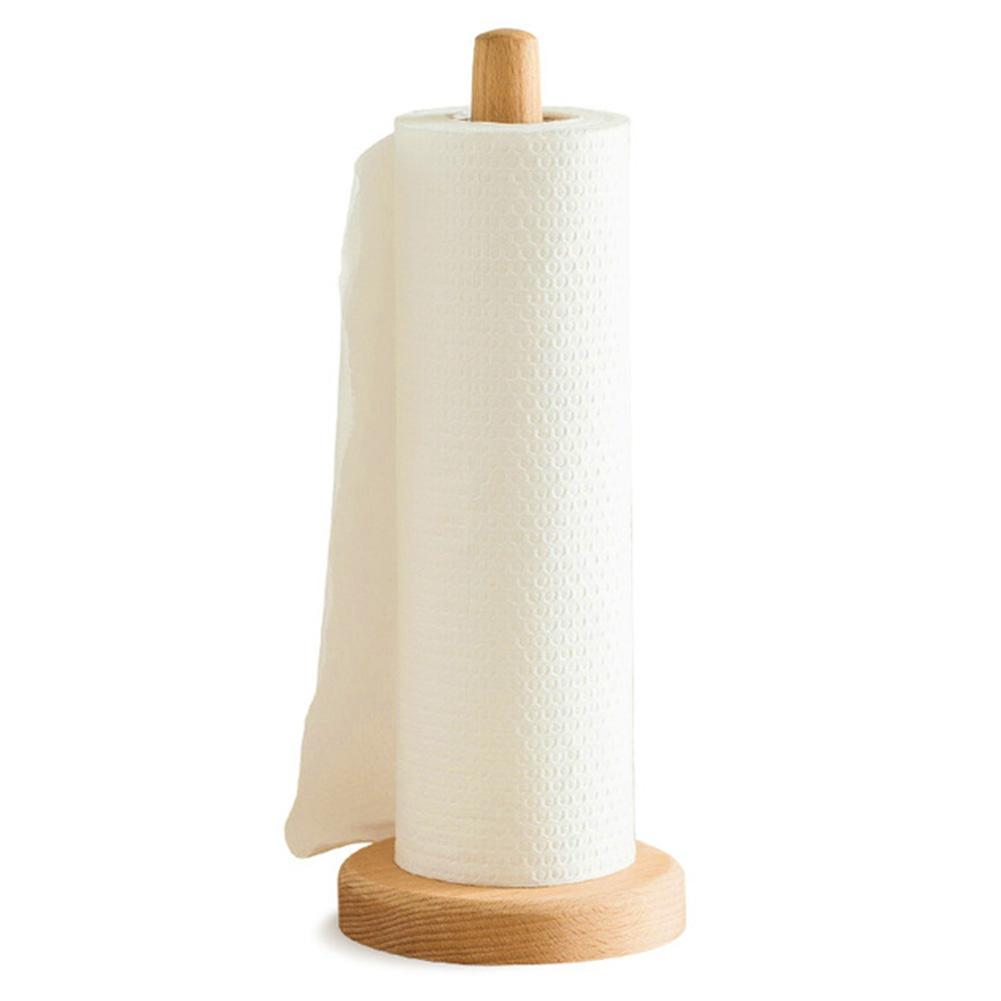 Hot Wooden Toilet Paper Roll Towel Holder Kitchen Bathroom Tissue Roll Beech Stand Holders Toilet Tissue Dispenser 1