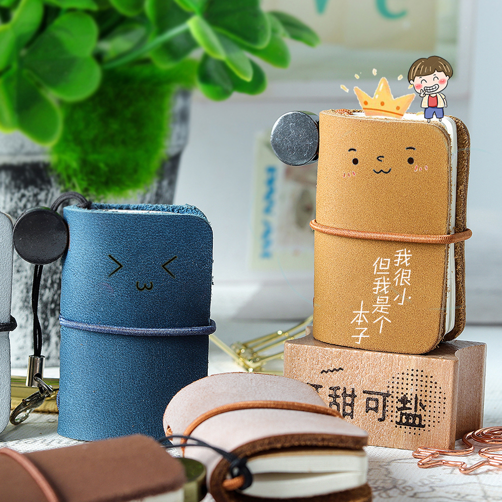 Handnote Genuine Leather Notebook Mini Cute Travel Journal For Vintage Decoration Retro Pendant Little Diary Cute Stationery