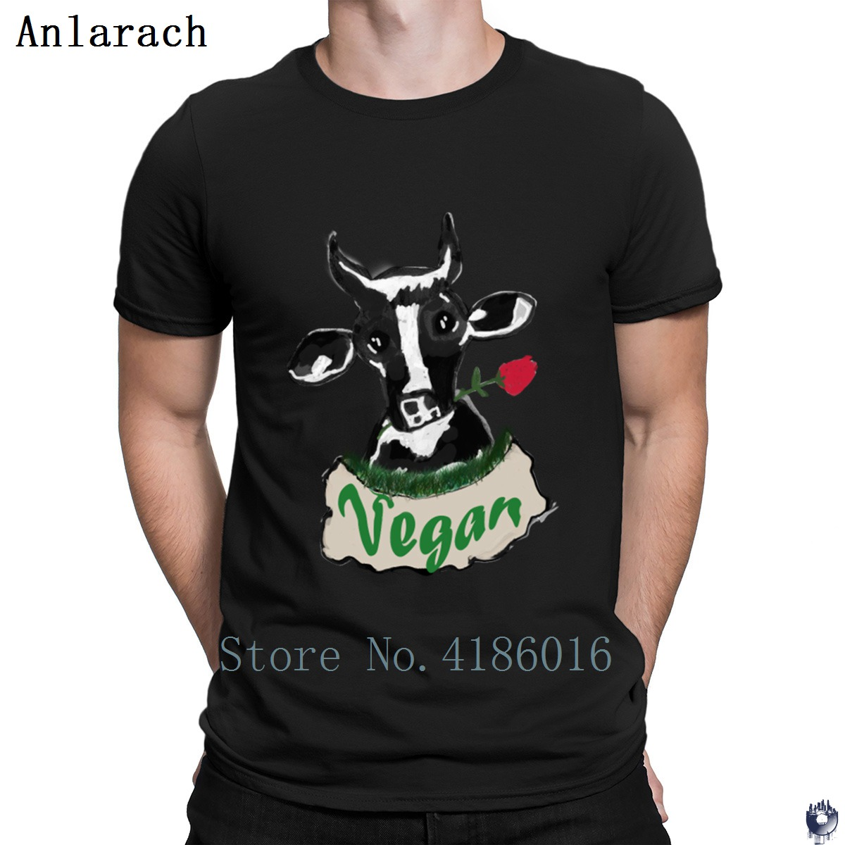 Vegan <font><b>Cow</b></font> <font><b>T</b></font> <font><b>Shirt</b></font> Tee <font><b>Shirt</b></font> Crazy O-Neck Designer Novelty Funny Casual Basic Solid Summer <font><b>Shirt</b></font> image