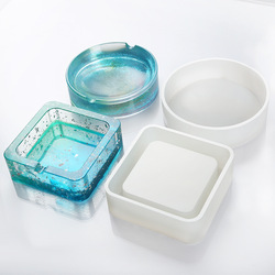 Ashtray Resin Mold Coaster Flexible Silicone Mold Epoxy UV Resin Making Craft Resin Molds for Jewelry Making Components DIY