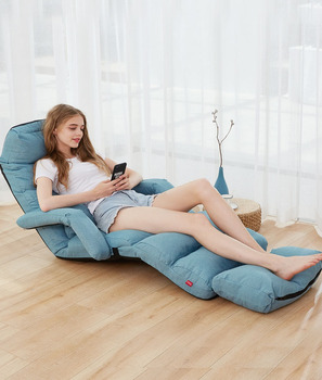 цена на 205cm Extra Long Lazy Bean Bag Sofa Tatami Folding Recliner Chair Creative Leisure Sofa Bed Foldable Space Saving