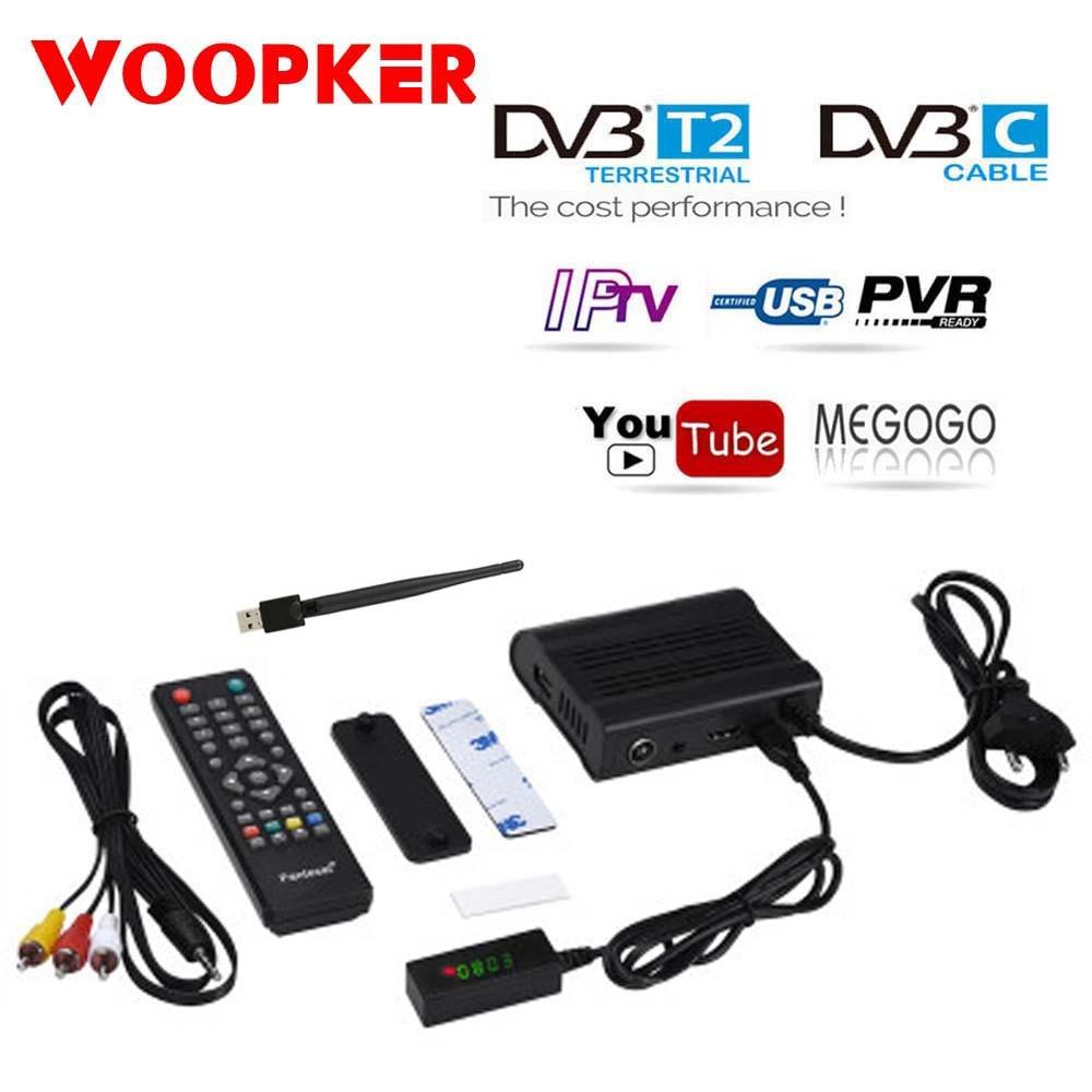 Receptor de televisión por satélite Digital con Wifi, sintonizador DVB-T2, DVB-T2, IPTV, DVBT2, M3u, Youtube, HD-99