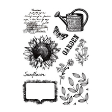 Vintage Sunflower Leaves Transparent Clear Stamps Silicone Seal for DIY Scrapbooking Card Making Photo Album Decoration Crafts
