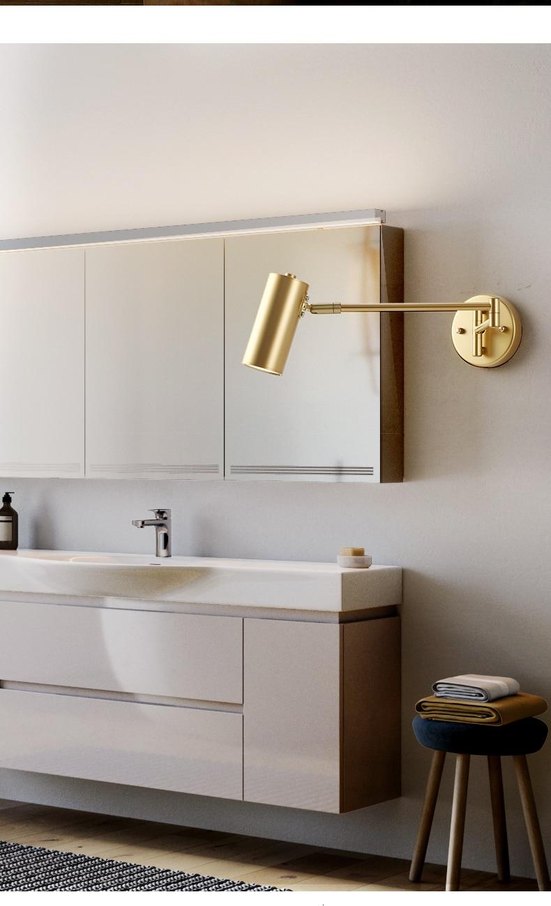 comprimento arandela quarto banheiro espelho lâmpada
