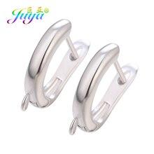 Juya 4pcs/Lot DIY Schwenzy Supplies Copper Material Fastener Bail Earwire Hooks Accessories For Handmade Fashion Earrings Making