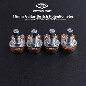 2 stücke A500K/250 K Potentiometer Keil Kleine Topf Elektrische Gitarre Bass Wirkung Amp TPotentiometer Volumen Potentiometer Gitarre Teil