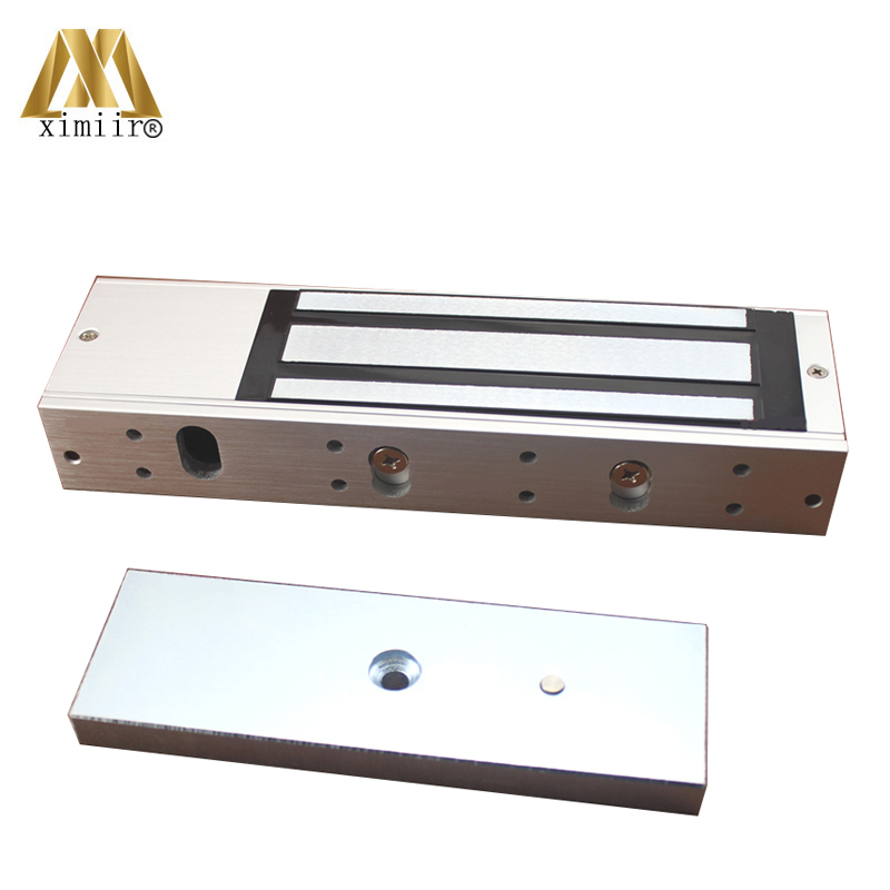 500KG (1000lbs) Access Control Electric Magnetic Door Lock 12V Electric Lock Holding Force High Quality M500S With LED