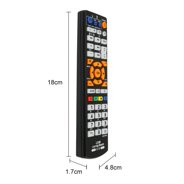 Universal Smart IR Remote Control with learn function, 3 pages controller copy for TV STB DVD SAT DVB HIFI TV BOX, L336 5