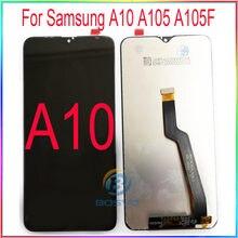 Do wyświetlacza Samsung A10 LCD M10 A105 M105 z dotykiem z ramą wymiana części zamiennych