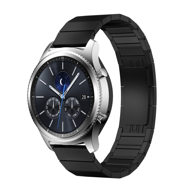 Gear s3 22mm 20mm watchband for Samsung galaxy watch frontier 46mm 42mm Huawei GT watch stainless steel butterfly buckle strap