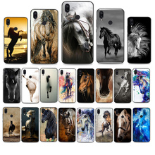 Cavalo animal pintura telefone capinhas para xiaomi redmi note7 pro note8 pro 8t note9 9t redmi8 8a note10 pro 9c x3