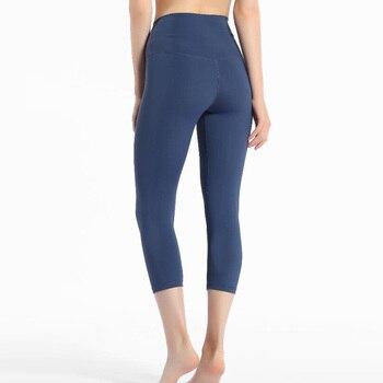 2020 Women high waist capris sports gym sexy tummy control capris super quality 4 way stretch leggings фото