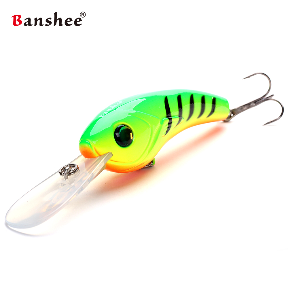 Banshee 95mm 19g VS01 Wobbler Fishing Lure Hard Artificail Bait Pike Bass Floating Big Diving Round Round Bill Crankbait