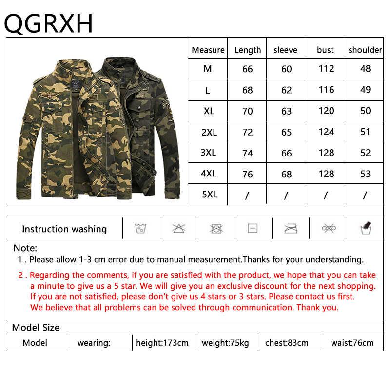 2019 hombres camuflaje bombardero chaquetas Marina cuerpo militar táctico rompevientos chaqueta de carga de gran tamaño abrigo deportivo