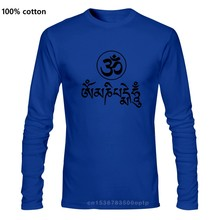 Summer New Fashion JN BUDDHISM OM MANI PADME HUM T Shirt Men Casual Long Sleeve O-Neck Tops Tees Large Size Dress Brand Clothes