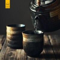 RUX мастерской японский стиль чашки для воды керамические изделия ручная роспись кунгфу чашки кухни посуда для напитков