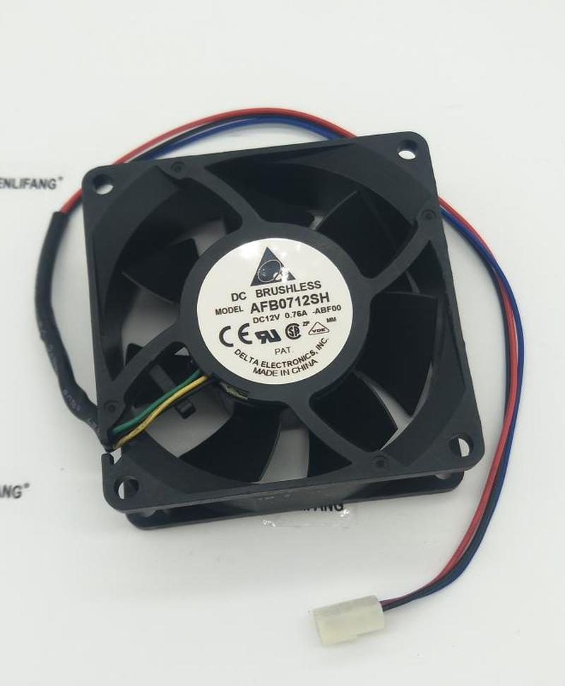 For Delta 7025 12V 0.76A AFB0712SH 7CM/cm Double Ball Large Air Volume Fan Free Shipping