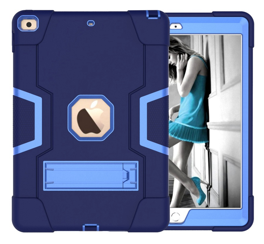 NB Blue Baby Safe Heavy Duty Silicone Case For Apple iPad 10 2 2020 iPad 7 8th Generation