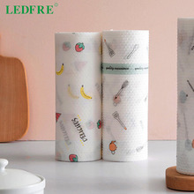 Dish-Towels Lazy-Wipes Kitchen LF71041 LEDFRE 50 Absorbent Breakpoint-Type Wet Disposable