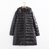 Winter Hooded Long Sleeve Solid Color Black Cotton padded Warm Loose Big Size Jacket Women parkas Fashion winter jacket women