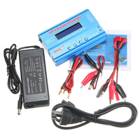 15V 80W iMAX B6 LCD Screen Digital RC Lipo NiMh Li ion Ni Cd Battery Balance Charger Discharger with AC Adapter