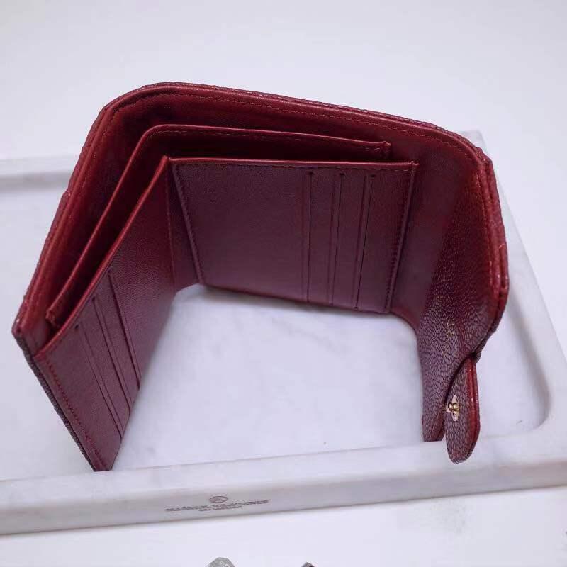 Di lusso Quilted Wallet Donne ID del Supporto di Carta Delle Signore Della Chiusura Lampo Della Moneta Borse Slim Portafogli sacchetto dei soldi carpeta mens raccoglitore del cuoio genuino - 5