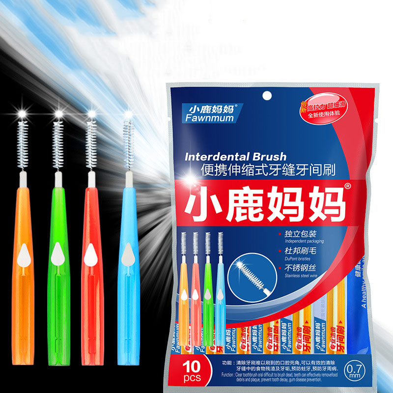 10PCS Adults Interdental Brush Clean Between Teeth Dental Floss Retractable Toothpick Cleaning Dental Brushes Teeth Oral Care