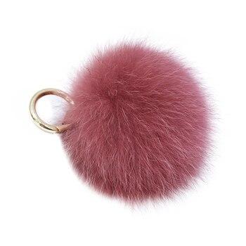 New Korean style fox fur ball pendant large fur ball bag pendant mobile phone pendant car key chain suitable for women