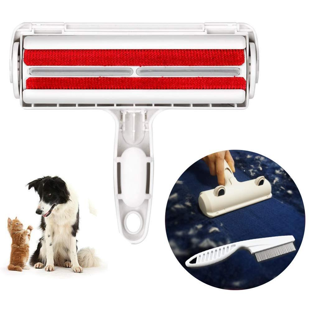Pet Hair Remover Lint Roller Dog Cat Puppy Cleaning Brush Dog Cat Hair Sofa Carpet Cleaner Brushes New Pet Products Hair Brushes(China)