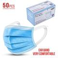 50 Pcs 3 Schichten Verdickt Einweg Mund Schutz Mund Abdeckungen Nicht-Woven Anti-Staub Gesicht Deckt Schutz Produkte